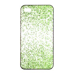 Green Square Background Color Mosaic Apple Iphone 4/4s Seamless Case (black) by Celenk