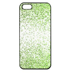 Green Square Background Color Mosaic Apple Iphone 5 Seamless Case (black) by Celenk