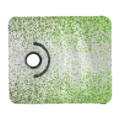 Green Square Background Color Mosaic Galaxy S3 (flip/folio) by Celenk