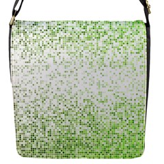 Green Square Background Color Mosaic Flap Messenger Bag (s) by Celenk