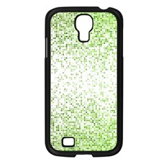 Green Square Background Color Mosaic Samsung Galaxy S4 I9500/ I9505 Case (black) by Celenk