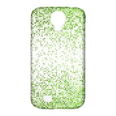 Green Square Background Color Mosaic Samsung Galaxy S4 Classic Hardshell Case (pc+silicone) by Celenk