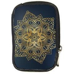 Gold Mandala Floral Ornament Ethnic Compact Camera Cases by Celenk