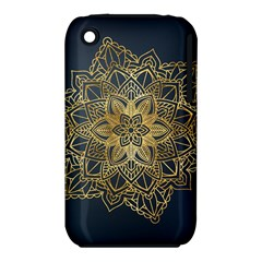 Gold Mandala Floral Ornament Ethnic Iphone 3s/3gs by Celenk