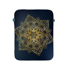Gold Mandala Floral Ornament Ethnic Apple Ipad 2/3/4 Protective Soft Cases by Celenk