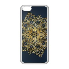 Gold Mandala Floral Ornament Ethnic Apple Iphone 5c Seamless Case (white) by Celenk