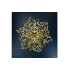 Gold Mandala Floral Ornament Ethnic Satin Bandana Scarf by Celenk