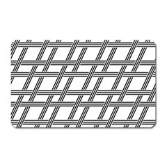 Grid Pattern Seamless Monochrome Magnet (rectangular) by Celenk