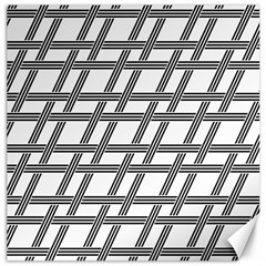 Grid Pattern Seamless Monochrome Canvas 16  X 16   by Celenk