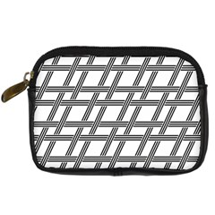 Grid Pattern Seamless Monochrome Digital Camera Cases by Celenk