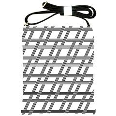 Grid Pattern Seamless Monochrome Shoulder Sling Bags by Celenk