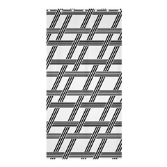 Grid Pattern Seamless Monochrome Shower Curtain 36  X 72  (stall)  by Celenk