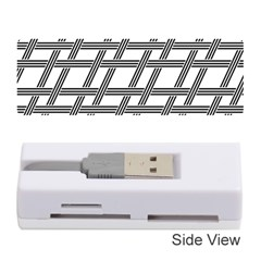 Grid Pattern Seamless Monochrome Memory Card Reader (stick)