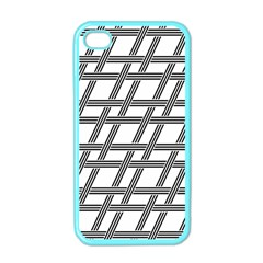 Grid Pattern Seamless Monochrome Apple Iphone 4 Case (color) by Celenk