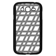 Grid Pattern Seamless Monochrome Samsung Galaxy Grand Duos I9082 Case (black) by Celenk