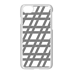 Grid Pattern Seamless Monochrome Apple Iphone 7 Seamless Case (white) by Celenk
