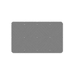 Diagonal Stripe Pattern Seamless Magnet (name Card) by Celenk