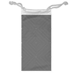 Diagonal Stripe Pattern Seamless Jewelry Bag by Celenk