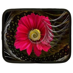 Fantasy Flower Fractal Blossom Netbook Case (xxl)  by Celenk