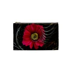 Fantasy Flower Fractal Blossom Cosmetic Bag (small)  by Celenk