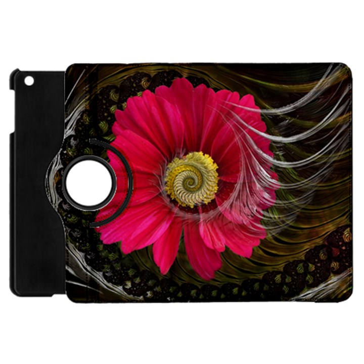 Fantasy Flower Fractal Blossom Apple iPad Mini Flip 360 Case