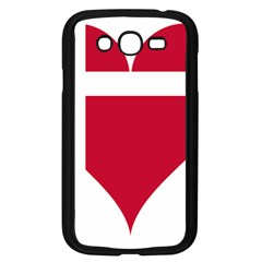 Heart Love Flag Denmark Red Cross Samsung Galaxy Grand Duos I9082 Case (black) by Celenk
