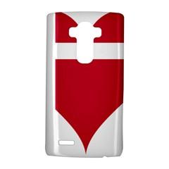 Heart Love Flag Denmark Red Cross Lg G4 Hardshell Case by Celenk