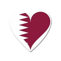 Heart Love Flag Qatar Heart Magnet by Celenk