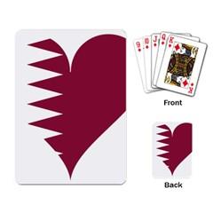 Heart Love Flag Qatar Playing Card by Celenk