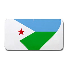 Heart Love Flag Djibouti Star Medium Bar Mats by Celenk
