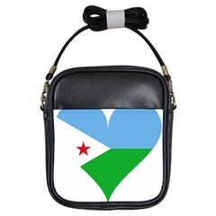 Heart Love Flag Djibouti Star Girls Sling Bags by Celenk