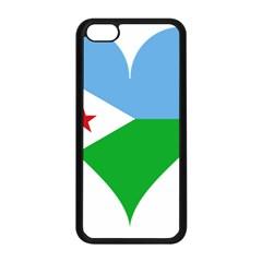 Heart Love Flag Djibouti Star Apple Iphone 5c Seamless Case (black) by Celenk