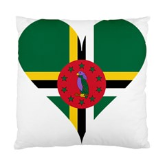 Heart Love Flag Antilles Island Standard Cushion Case (two Sides) by Celenk