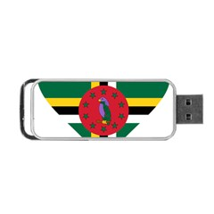 Heart Love Flag Antilles Island Portable Usb Flash (two Sides) by Celenk