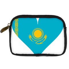 Heart Love Flag Sun Sky Blue Digital Camera Cases by Celenk