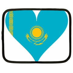 Heart Love Flag Sun Sky Blue Netbook Case (xl)  by Celenk