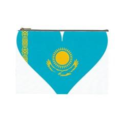 Heart Love Flag Sun Sky Blue Cosmetic Bag (large)  by Celenk