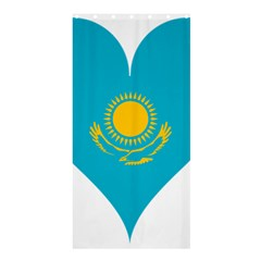 Heart Love Flag Sun Sky Blue Shower Curtain 36  X 72  (stall)  by Celenk