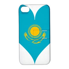 Heart Love Flag Sun Sky Blue Apple Iphone 4/4s Hardshell Case With Stand by Celenk