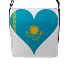 Heart Love Flag Sun Sky Blue Flap Messenger Bag (l)  by Celenk