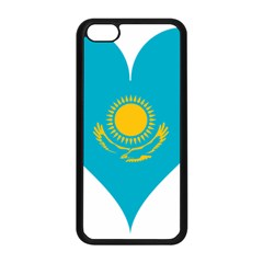 Heart Love Flag Sun Sky Blue Apple Iphone 5c Seamless Case (black) by Celenk