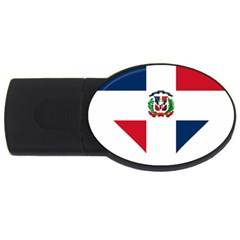 Heart Love Dominican Republic Usb Flash Drive Oval (2 Gb) by Celenk