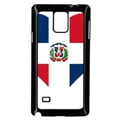 Heart Love Dominican Republic Samsung Galaxy Note 4 Case (black) by Celenk