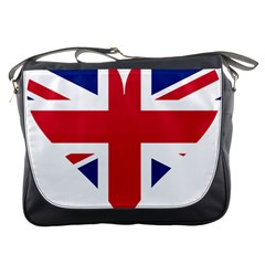 Heart Love Heart Shaped Flag Messenger Bags by Celenk