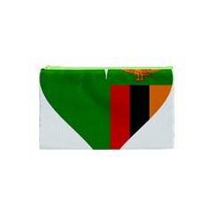 Heart Love Heart Shaped Zambia Cosmetic Bag (xs) by Celenk