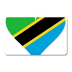 Heart Love Tanzania East Africa Magnet (rectangular) by Celenk