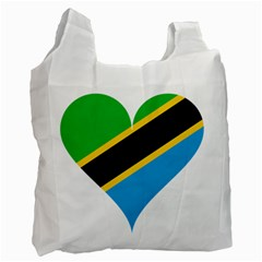 Heart Love Tanzania East Africa Recycle Bag (one Side)