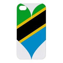 Heart Love Tanzania East Africa Apple Iphone 4/4s Premium Hardshell Case by Celenk