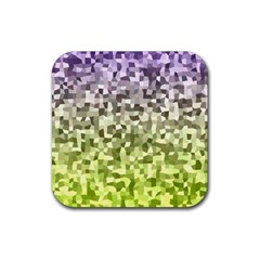 Irregular Rectangle Square Mosaic Rubber Square Coaster (4 Pack)  by Celenk