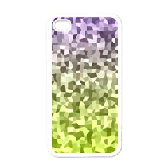 Irregular Rectangle Square Mosaic Apple Iphone 4 Case (white) by Celenk